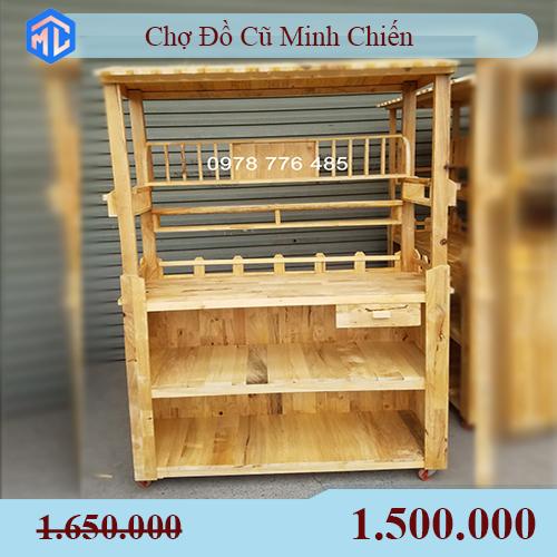 thanh lý đồ cũ xe cafe gỗ giá rẻ tphcm