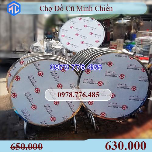 bàn tròn inox 1m2 giá rẻ