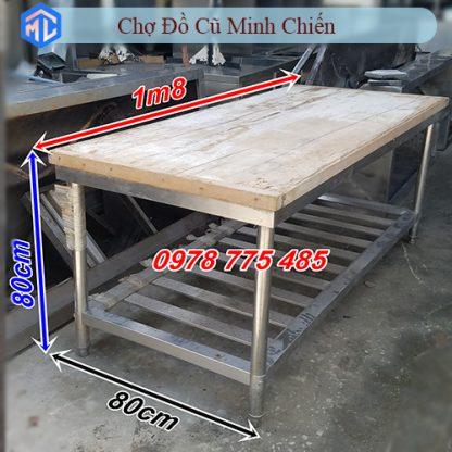 bàn chặt inox 304 1m8