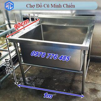 bồn rửa inox 304 1 ngăn lớn