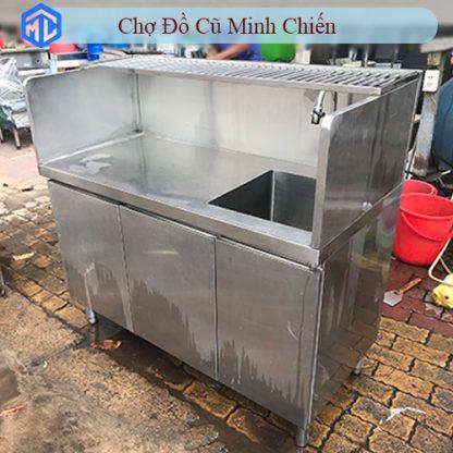 tủ inox 304 có bồn rửa